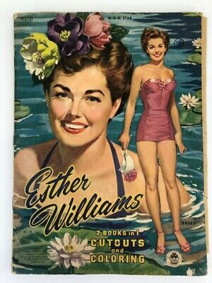 Merrill 1953 Esther Williams MGM Star Cutouts & Colouring Paper Dolls Book Used