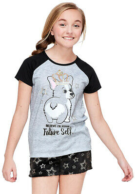 Justice Girls Fuzzy Critter Tee /& Photoreal Leggings Set Size 18 20 NEW