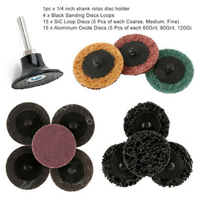 35pcs 2'' Durable Roll Lock Sanding Discs R Type Roloc Pad for Sanding Abrasive