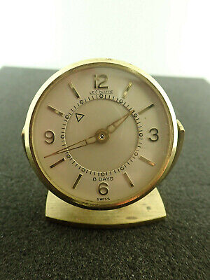 Vintage Le Coultre Alarm Clock 8 Day Memovox 61 Needs Cleaning