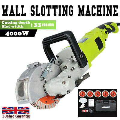 Electric Wall Chaser Groove Cutting Slotting Machine 4000W Cutter Slotter 33mm
