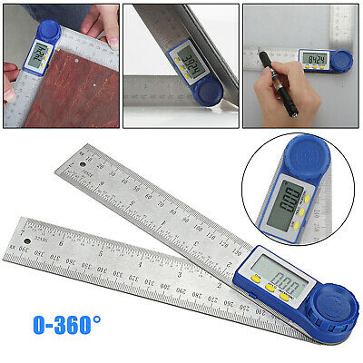 Electronic Digital Protractor Goniometer Angle Finder Miter Gauge with Batteries