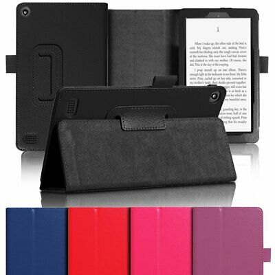 Flip Leather Smart Case Cover Stand For 2017 Amazon Kindle Fire 7 HD 8 Tablet UK