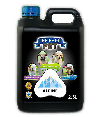 Fresh Pet Disinfectant for Dogs Puppies Cats Kennel Cleaner Alpine 2.5L Black