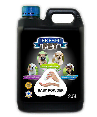 Fresh Pet Disinfectant for Dogs & Cats Kennel Cleaner Baby Powder 2.5L Black