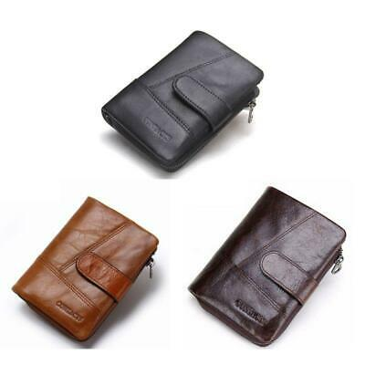 Leather Card Holder Zip Coin Purse Bifold Trifold Wallet
