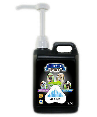 Fresh Pet Disinfectant for Dogs & Cats - With Pump - Alpine - 2.5L - Black
