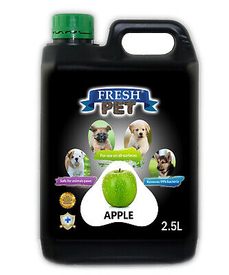 Fresh Pet Disinfectant for Dogs Puppies Cats Kennel Cleaner Apple - 2.5L Black