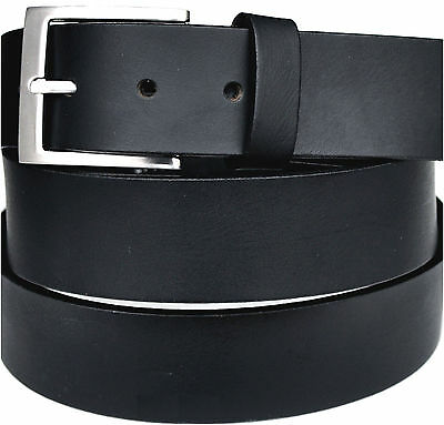 SX to XXXXL Approx. 4mm Thick Full Leather Belt 4cm Colour & Length Selectable