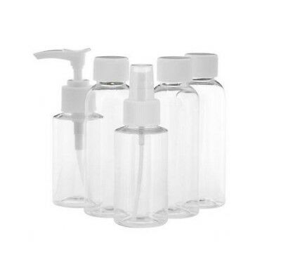 Toiletry Travel Bag pack 5 Piece Clear Holiday Airport Security Approved