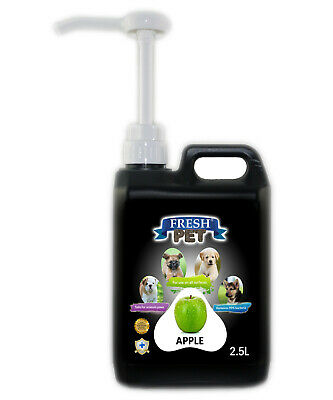 Fresh Pet Disinfectant for Dogs & Cats - With Pump - Apple - 2.5L - Black