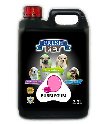 Fresh Pet Disinfectant for Dogs & Cats Kennel Cleaner  - Bubblegum - 2.5L Black