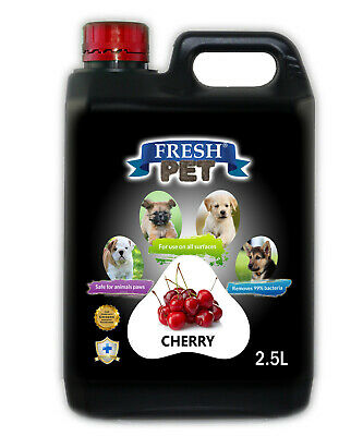 Fresh Pet Disinfectant for Dogs & Cats Kennel Cleaner  -  Cherry - 2.5L Black
