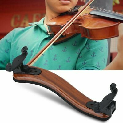 Adjustable Wood Violin Shoulder Rest W/ Padding Support for 3/4, 4/4 size