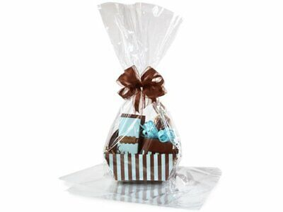 Large 18 In X 30 In Clear Cellophane Bags Gift Basket Bags Cello Gift Bags 10