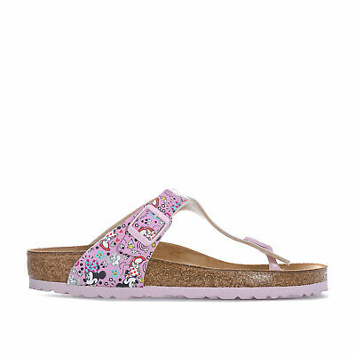 CHILDREN GIRLS BIRKENSTOCK Gizeh Minnie Flowers Sandals In