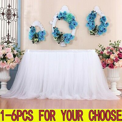 Large Tulle TUTU Table Skirt Cover Birthday Wedding Party Decor Table Cloth US