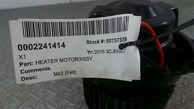 2016 BMW X1 Heater Blower Fan Motor Assembly 9297752 613
