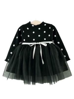 Black Polka Dot Girls Tutu Party Dress - 6 months to 3 years