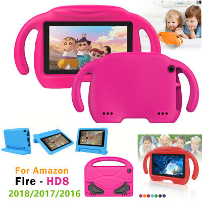 For Amazon Fire HD 8 8'' 2018 2017 Kids Shockproof Handle Stand EVA Case Cover