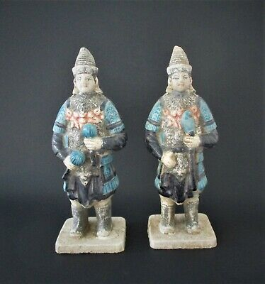Antique Chinese Ming Dynasty Statue Pair Ming Period Figurines