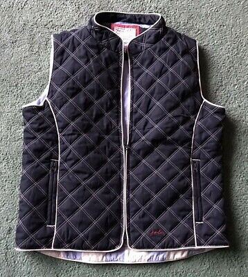 JOULES blue white girls quilted GILET Age 11 - 12 excellent condition
