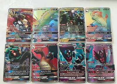 lot de 8 cartes pokemon gx full art