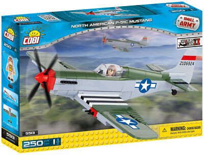 COBI SMALL ARMY WWII NEUF 5513 NORTH AMERICAN P-51C MUSTANG