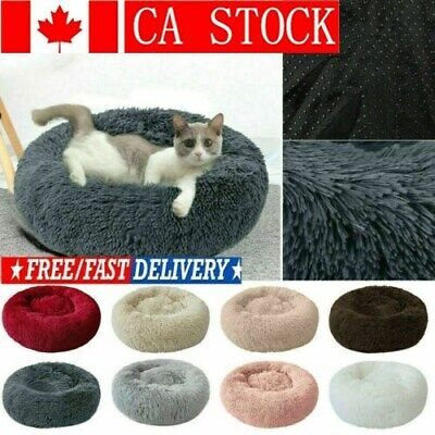 Comfy Calming Dog Cat Bed Round Super Soft Plush Pet Bed Marshmallow Cat Bed CA