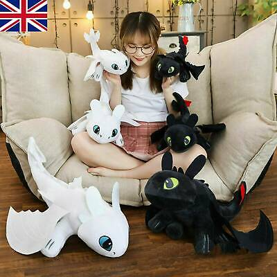 How to Train Your Dragon Toothless Night Fury Soft Toys Plush 35CM Doll Gift UK