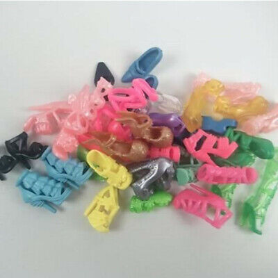 Beautiful Barbie Doll Shoes Xmas Birthday Christmas Gift New Lot 20 Pairs TS