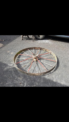 Antique Steel Wagon Wheel 1800's