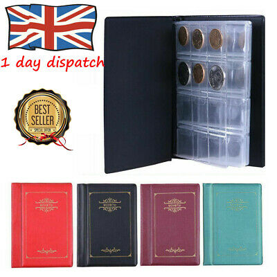 UK 120x Collectors Coin Penny Money Storage Album Book Holder Case Collection