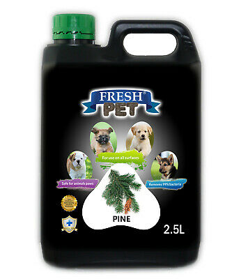 Fresh Pet Disinfectant for Dogs Puppies Cats Kennel Cleaner - Pine - 2.5L Black