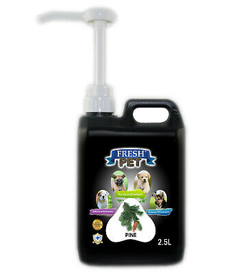 Fresh Pet Disinfectant for Dogs & Cats - With Pump - Pine - 2.5L - Black