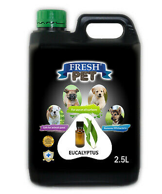 Fresh Pet Disinfectant for Dogs & Cats - Eucaylptus - 2.5L Black