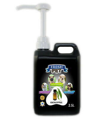 Fresh Pet Disinfectant for Dogs & Cats - With Pump - Eucaylptus - 2.5L - Black