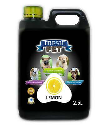 Fresh Pet Disinfectant for Dogs & Cats - Lemon - 2.5L Black
