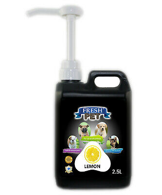 Fresh Pet Disinfectant for Dogs & Cats - With Pump - Lemon - 2.5L - Black