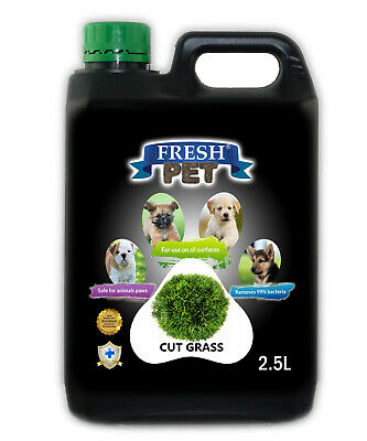 Fresh Pet Disinfectant for Dogs & Cats - Cut Grass - 2.5L Black