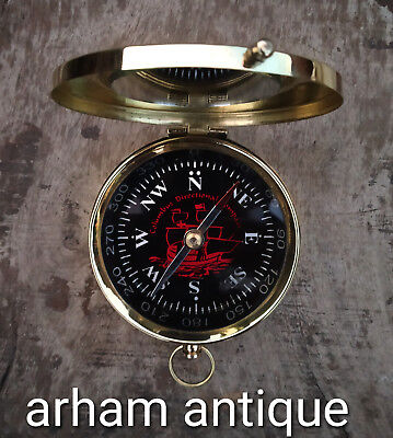 Nautical Solid Brass Working Compass Marine Navigation Astrolabe Compass Gift