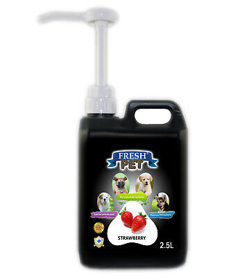 Fresh Pet Disinfectant for Dogs & Cats - With Pump - Strawberry - 2.5L - Black