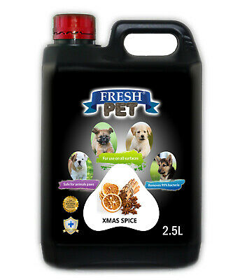Fresh Pet Disinfectant for Dogs & Cats - Christmas Spice -  2.5L Black