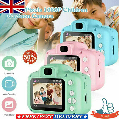 Mini Digital Camera Camcorder Video 1080P For Children Kids Xmas Gift Q513 UK.