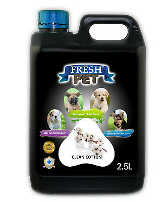Fresh Pet Disinfectant for Dogs & Cats - Clean Cotton -  2.5L Black