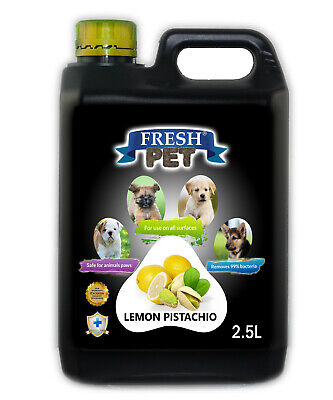 Fresh Pet Disinfectant for Dogs & Cats - Lemon Pistcachio -  2.5L Black