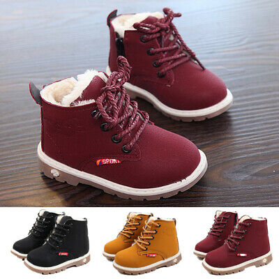 Boys Girls Snow Boots Fashion Toddler Infant Ankle Shoes Kids Baby Soft Trainers