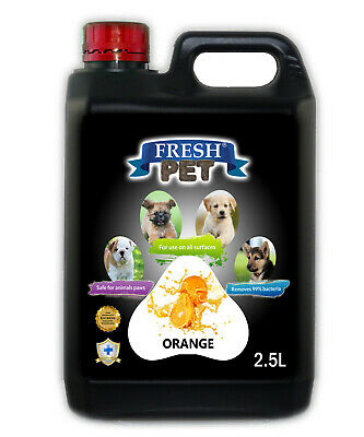 Fresh Pet Disinfectant for Dogs & Cats - Orange -  2.5L Black