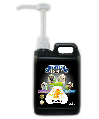 Fresh Pet Disinfectant for Dogs & Cats - With Pum - Orange - 2.5L - Black