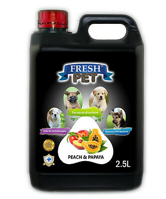Fresh Pet Disinfectant for Dogs & Cats - Peach And Papaya -  2.5L Black